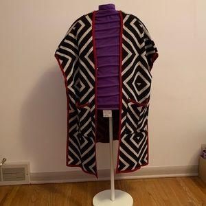 EUC FYLO LONDON WOOL Blend Long Open Cardigan